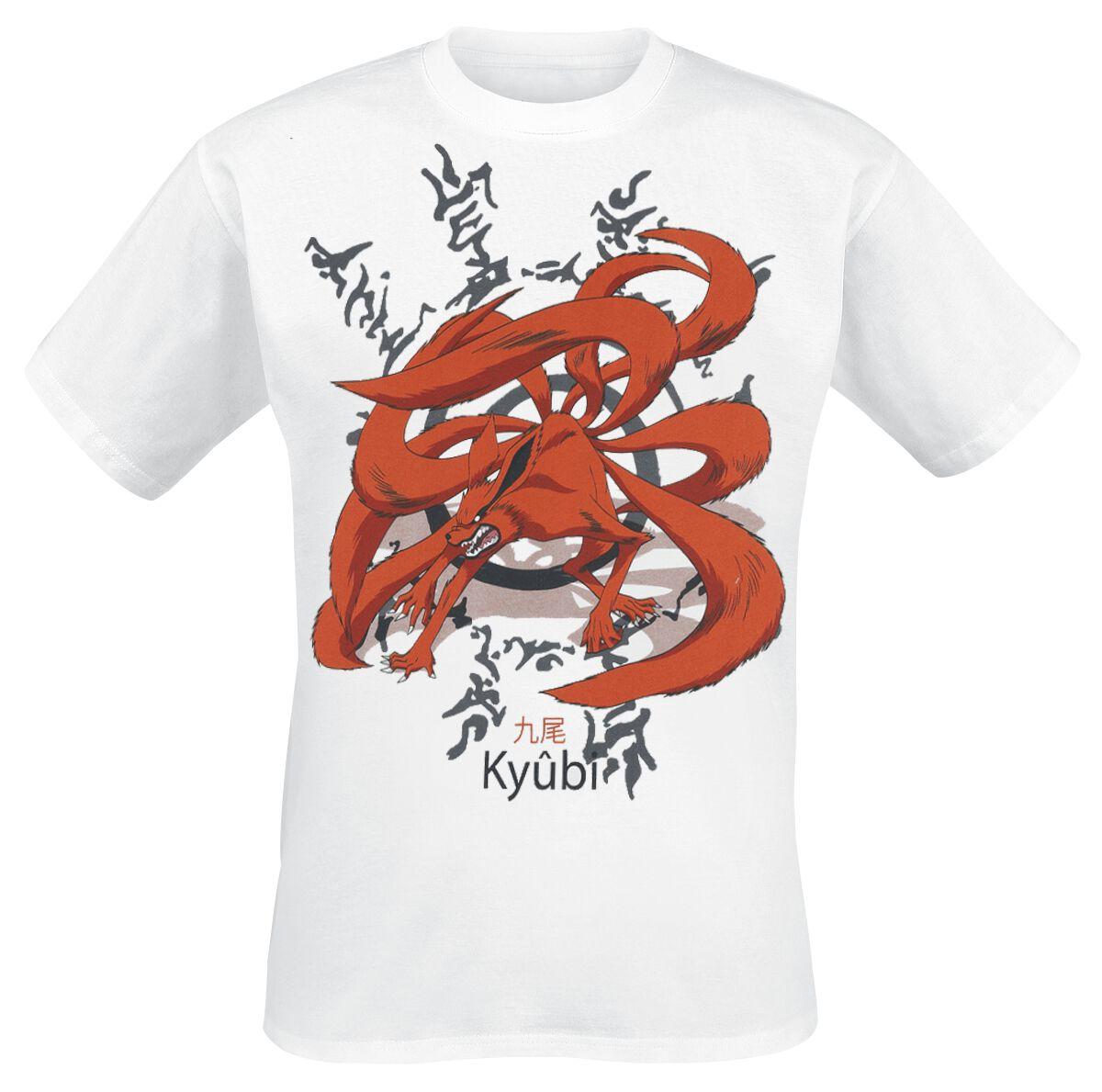 Naruto Kyubi T-Shirt weiß MENARUT TS005