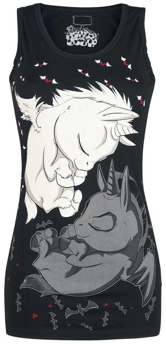 Einhorn Träumende Einhörner Top schwarz Dream Unicorn Vest