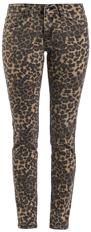 Hosen - Forplay Skarlett Leo Stretch Denim Jeans leopard  - Onlineshop EMP
