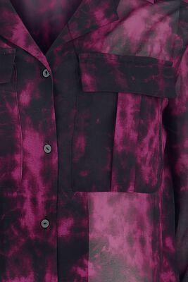 Semitransparente Bluse mit Muster Black Premium