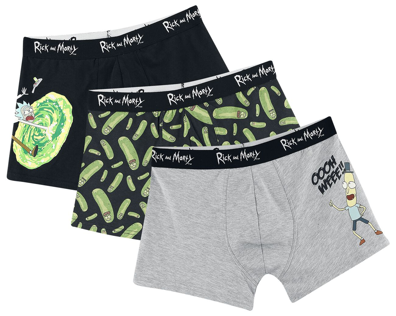Image of Rick And Morty Portal Boxershort multicolor