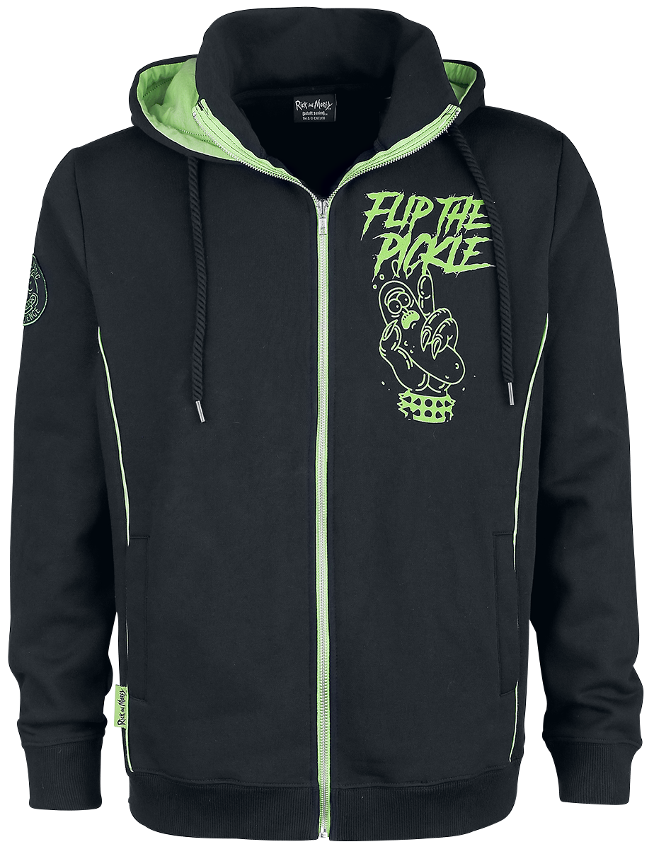 Rick And Morty - Pickle Rick - Hooded zip - black-green image