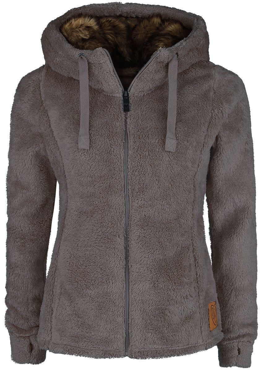 Jacken für Frauen - Sublevel Teddy Fleece Jacket Übergangsjacke braun  - Onlineshop EMP