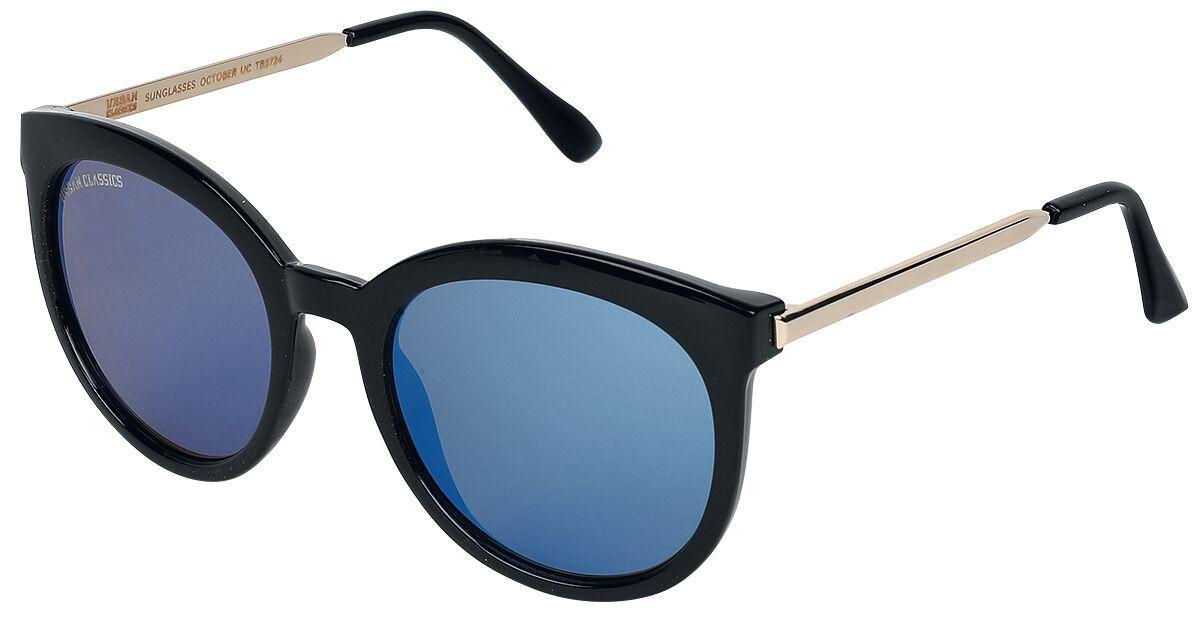 Sonnenbrillen - Urban Classics October Sonnenbrille schwarz blau  - Onlineshop EMP