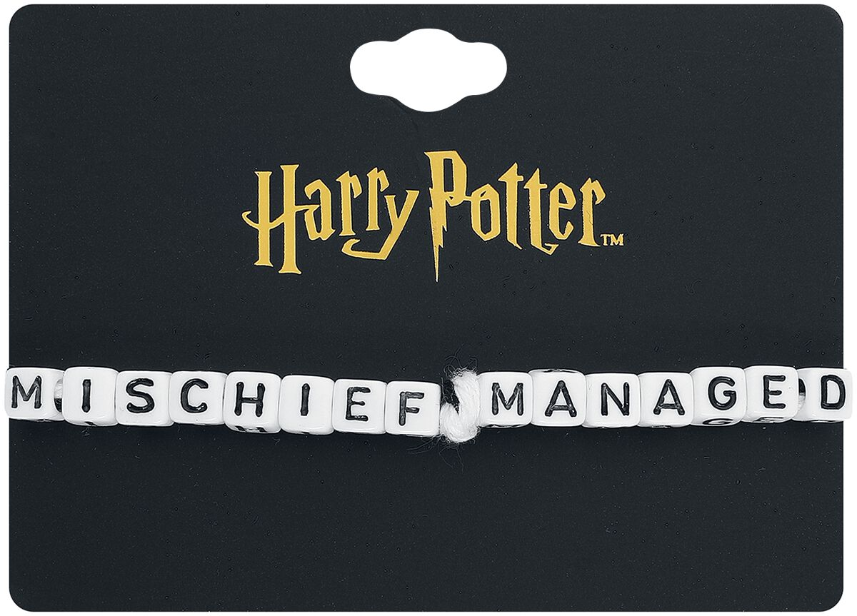 Abile Harry Potter Cube Bead Bracelet Braccialetto Nero/bianco Buoni Compagni Per Bambini E Adulti