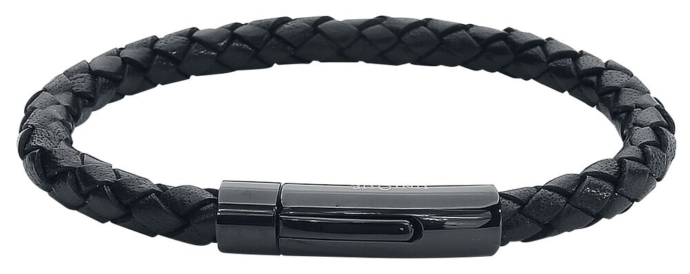 Black On Black Leather Bracelet