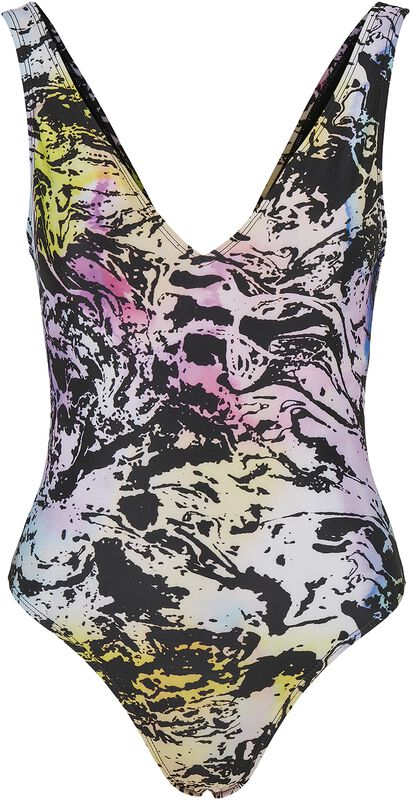 Ladies Recycled Multicolor Fading High Leg Swimsuit