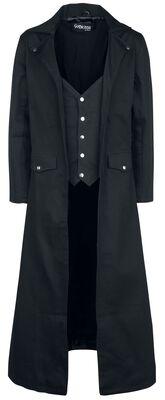 Langer schwarzer Mantel