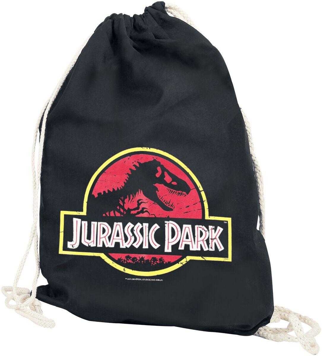 Sporttaschen - Jurassic Park Jurassic Park Logo Turnbeutel schwarz  - Onlineshop EMP