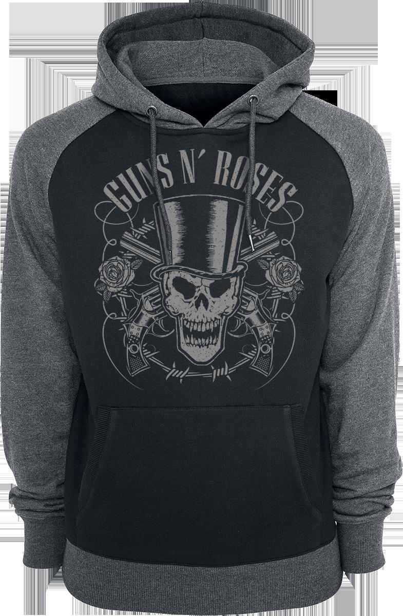 Guns N' Roses - Skull And Pistols - Hooded sweatshirt - black-grey image