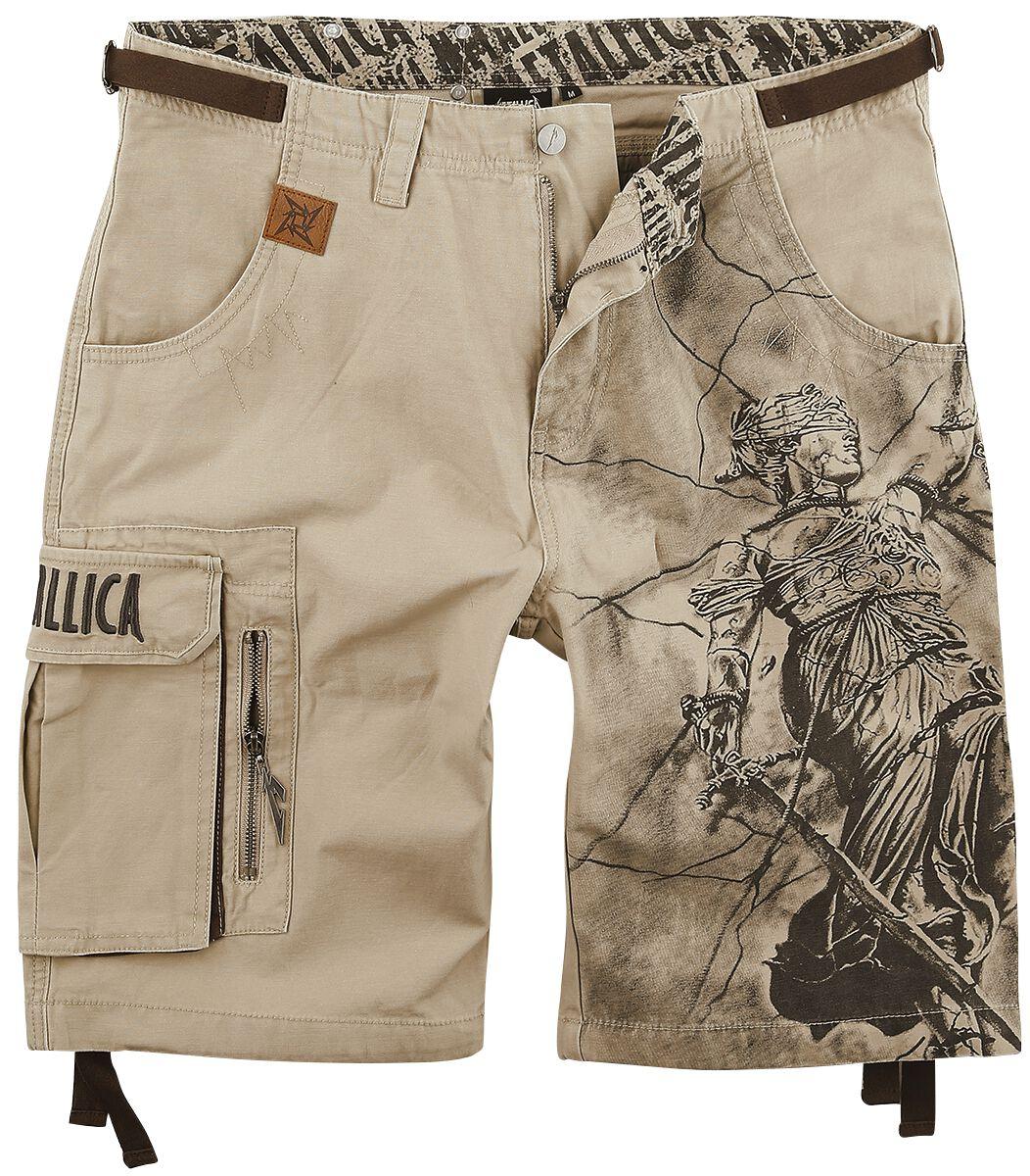 Music & Stars Metallica EMP Signature Collection Cargo shorts sand