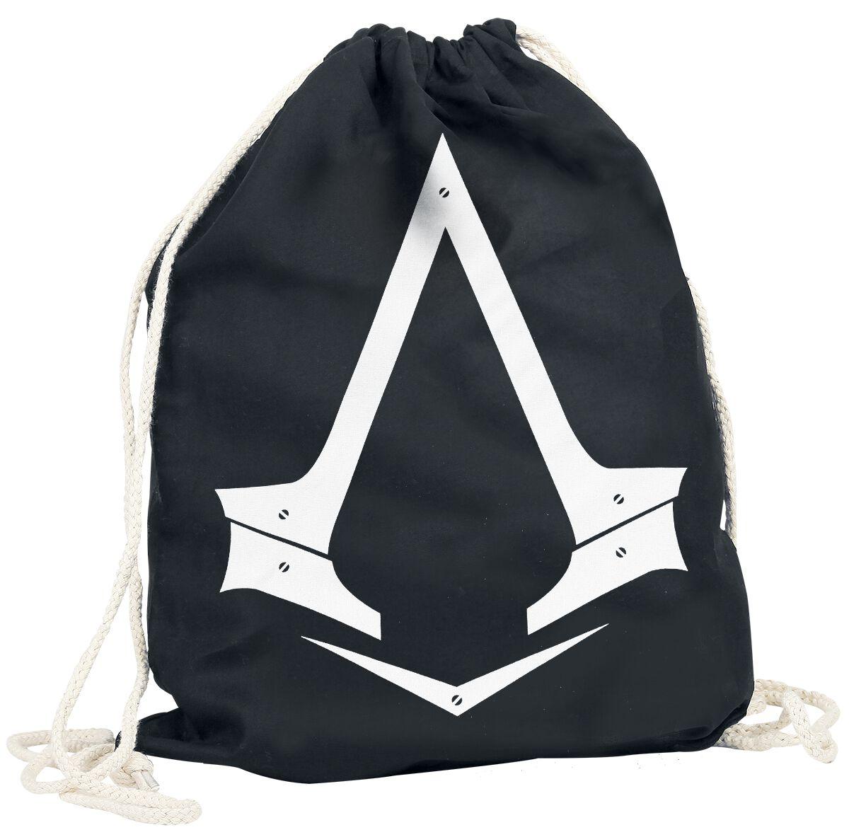 Sporttaschen - Assassin's Creed Assassin's Creed Logo Turnbeutel schwarz  - Onlineshop EMP