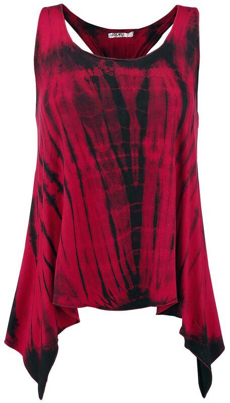 Tye Knot Top Red Stripe
