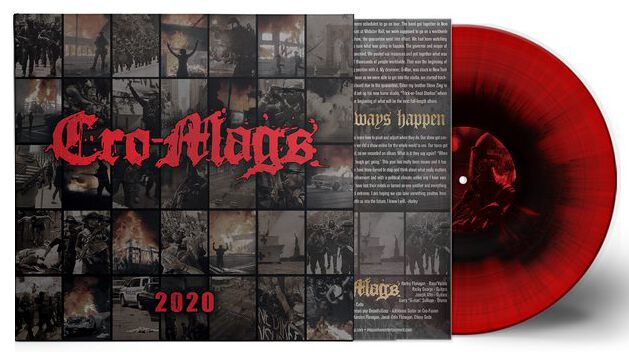 Image of Cro-Mags 2020 10 inch-EP rot/schwarz