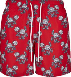 Rose Pattern Swim Shorts