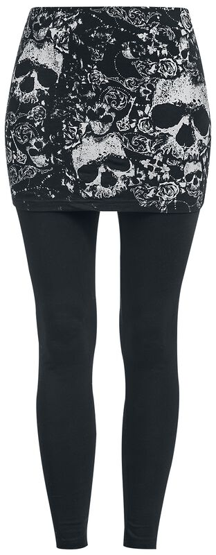 2 in 1: Leggings und Rock