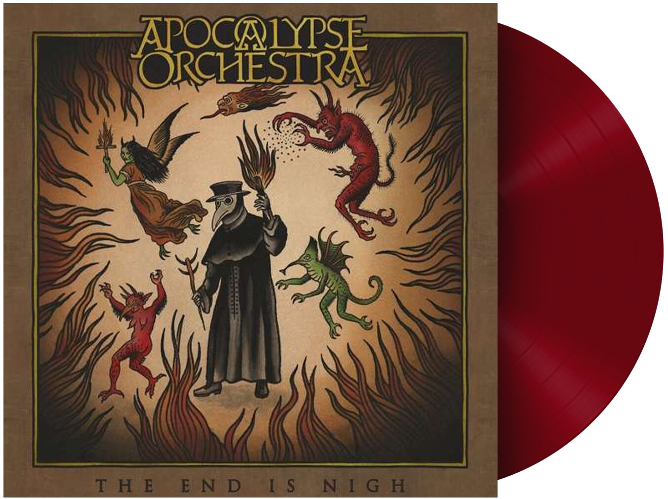 Image of Apocalypse Orchestra The end is nigh 2-LP rot