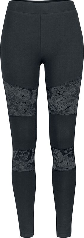 Ladies Lace Inset Leggings