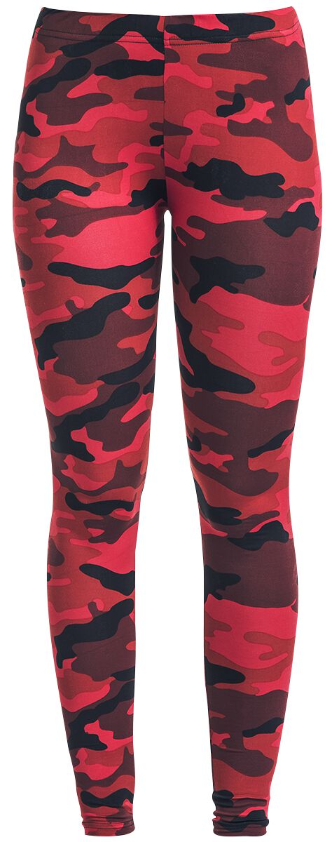 Hosen - RED by EMP Built For Comfort Leggings camouflage rot  - Onlineshop EMP