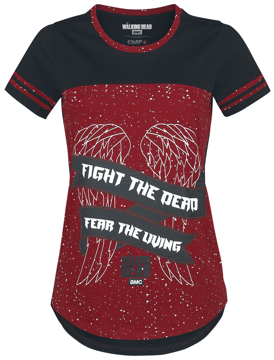The Walking Dead - Fight The Dead - Girls shirt - red-black image