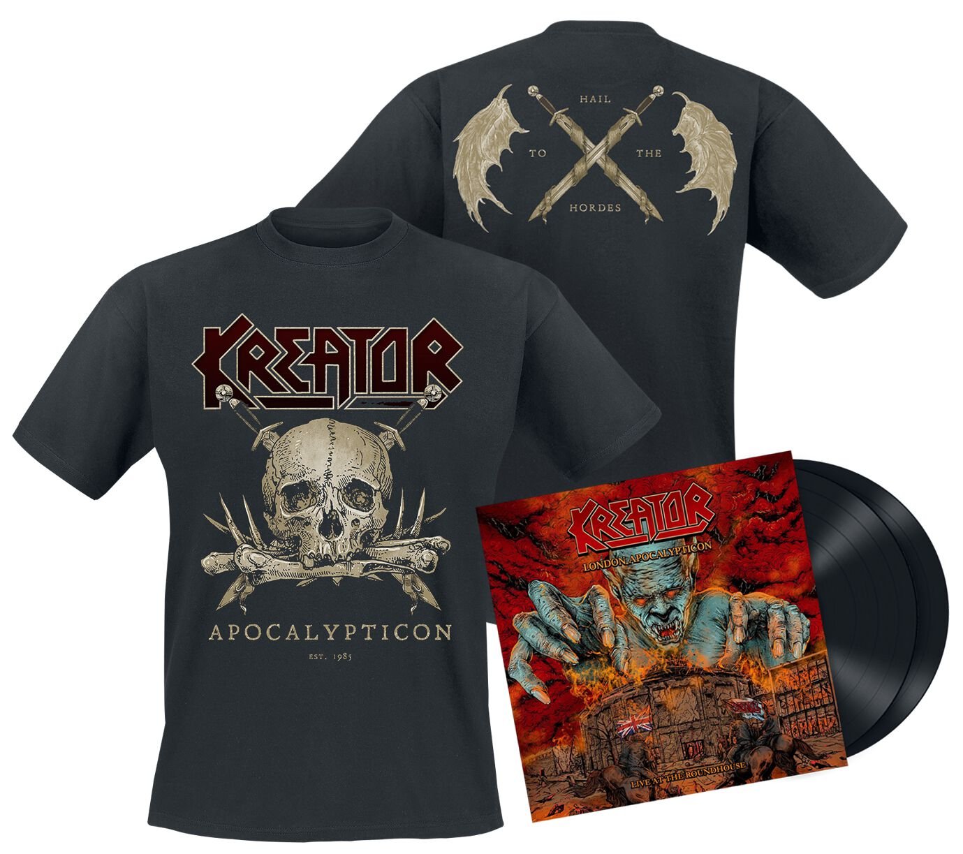 Image of Kreator London Apocalypticon - Live at the Roundhouse 2-LP & T-Shirt Standard
