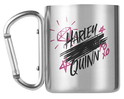 Birds Of Prey Harley Quinn - Tasse mit Karabinerhaken Tasse silberfarben MGCM0023
