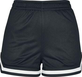 Ladies Stripes Mesh Hot Pants