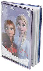Anna und Elsa - Notizbuch mit Schneeflocken