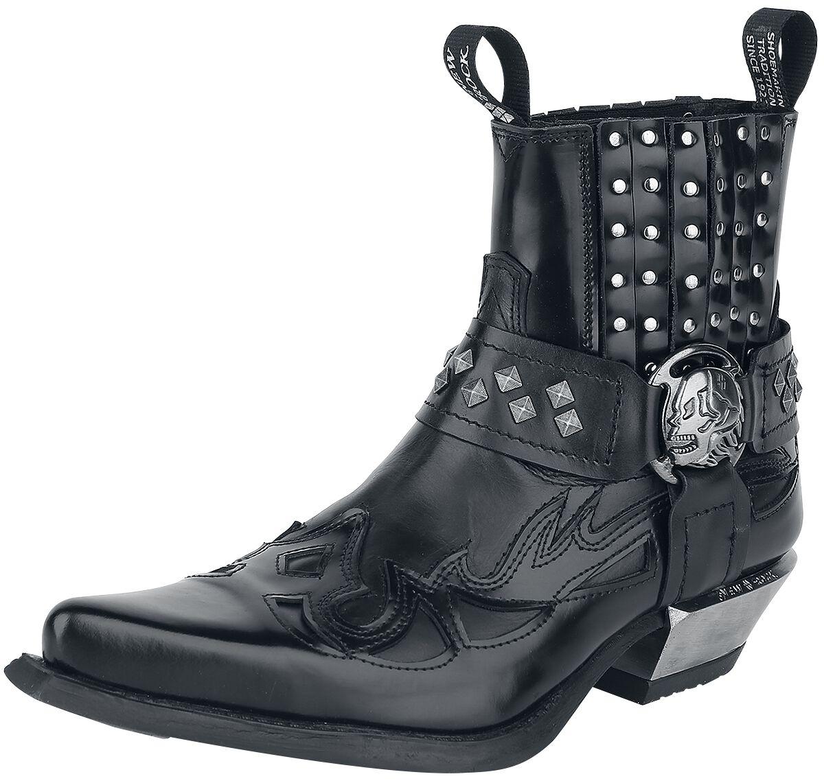 New Rock Antik Boot schwarz M.7950-C1 ANTIK NEGRO, ITALI NEGRO, WEST  NEGRO-A