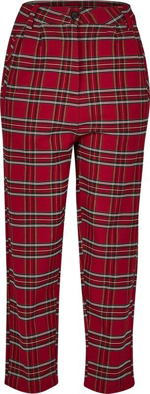 Ladies High Waist Checker Cropped Pants