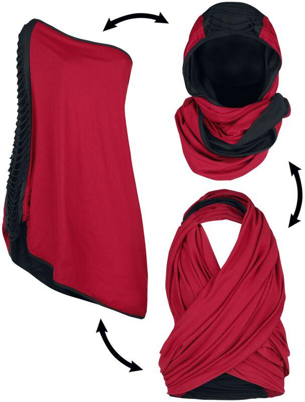 Rot/schwarzer Multifunktionsschal