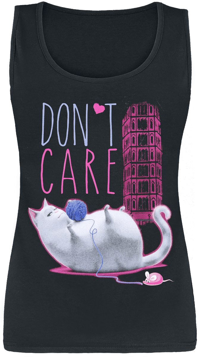 The Secret Life Of Pets - 2 - Chloe - Don't Care - Girls Top - black image