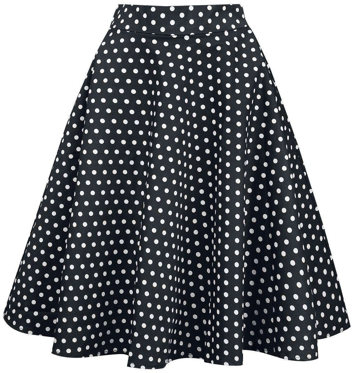 Roecke für Frauen - Dolly and Dotty Shirley High Waist Full Circle Polka Dot Skirt Rock schwarz weiß  - Onlineshop EMP