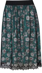 Green Bouquet Skirt