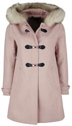 Nude Clasp Front Duffle Coat