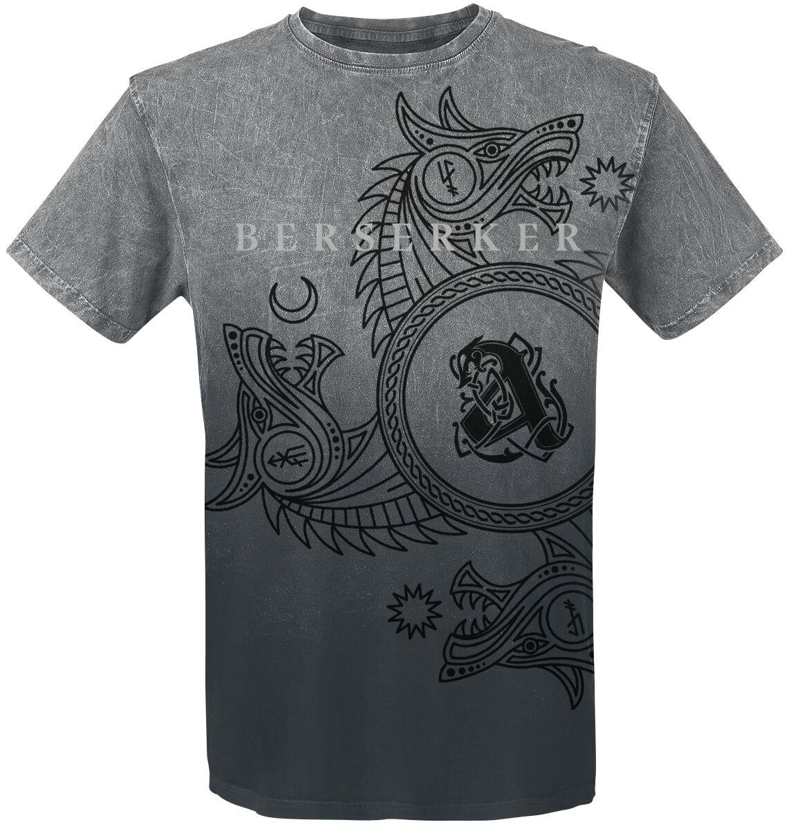 Image of Amon Amarth Berserker T-Shirt dunkelgrau/hellgrau