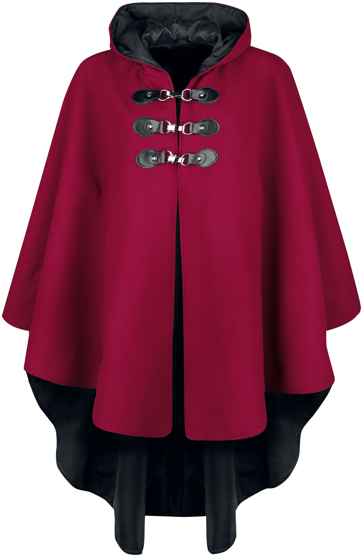 Image of Gothicana by EMP rotes Cape mit Kapuze Cape bordeaux