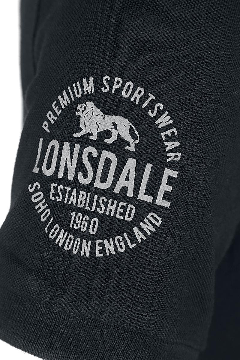 Image of Lonsdale London Black Polo Polo-Shirt schwarz