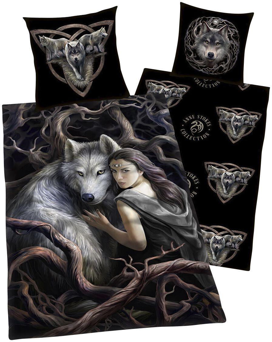 Image of Anne Stokes Wolf Bettwäsche Standard
