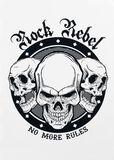 Wall Tattoo Bad Skulls