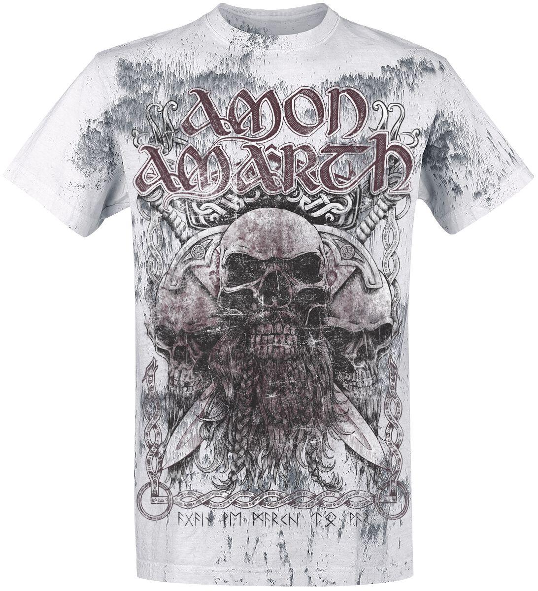 Image of Amon Amarth Beardskulls T-Shirt hellgrau