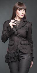 Asymmetrische Jacke mit Spitze verziert