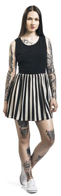 Circus Freak Striped Skater Dress