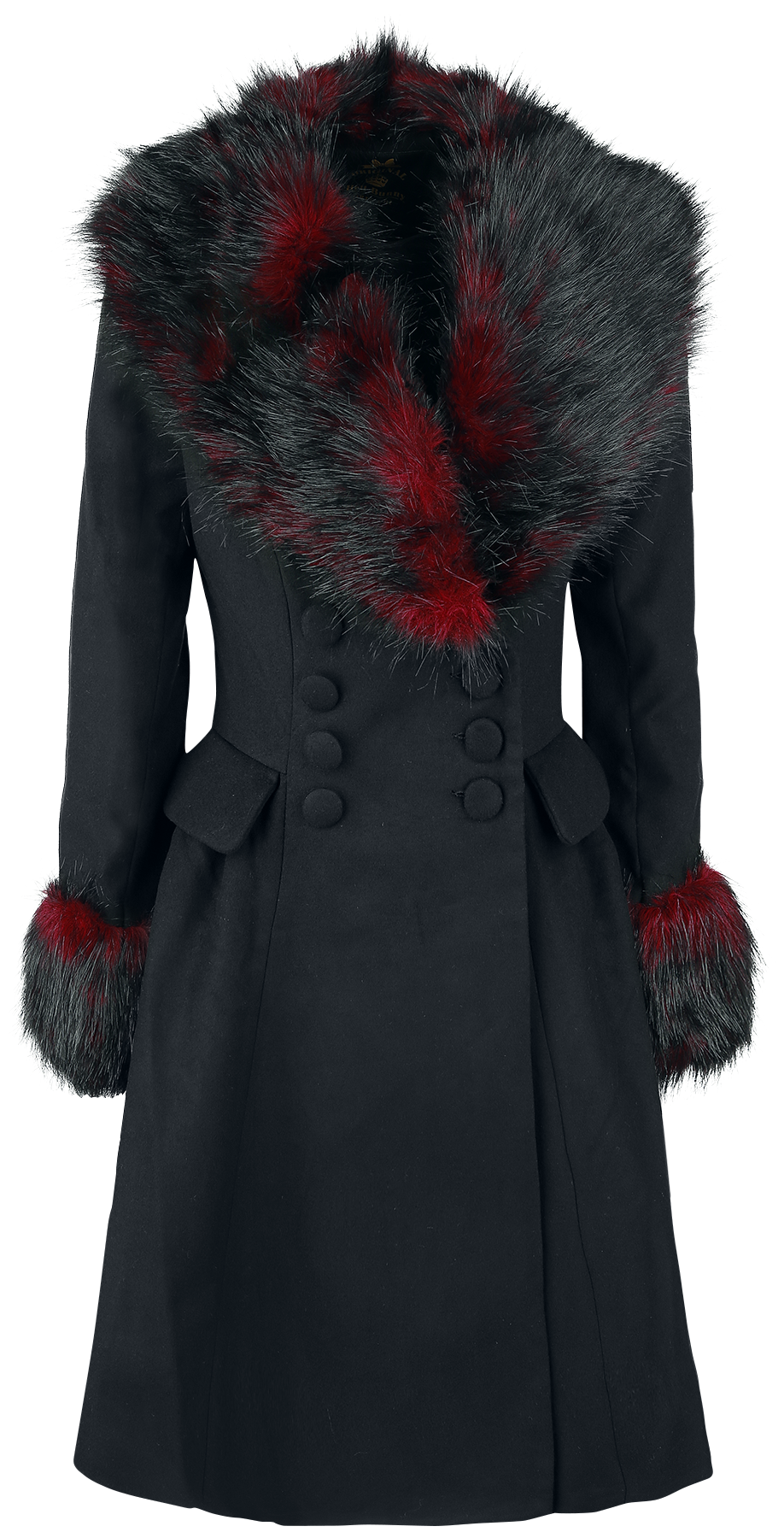 Hell Bunny - Rock Noir Coat - Girls coat - black-red image
