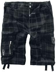 schwarze Shorts mit karo Muster