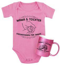 Babybody + Tasse Mama und Tochter