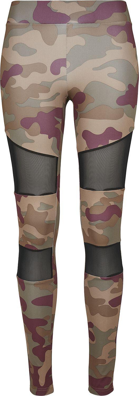 Hosen - Urban Classics Ladies Camo Tech Mesh Leggings Leggings camouflage  - Onlineshop EMP
