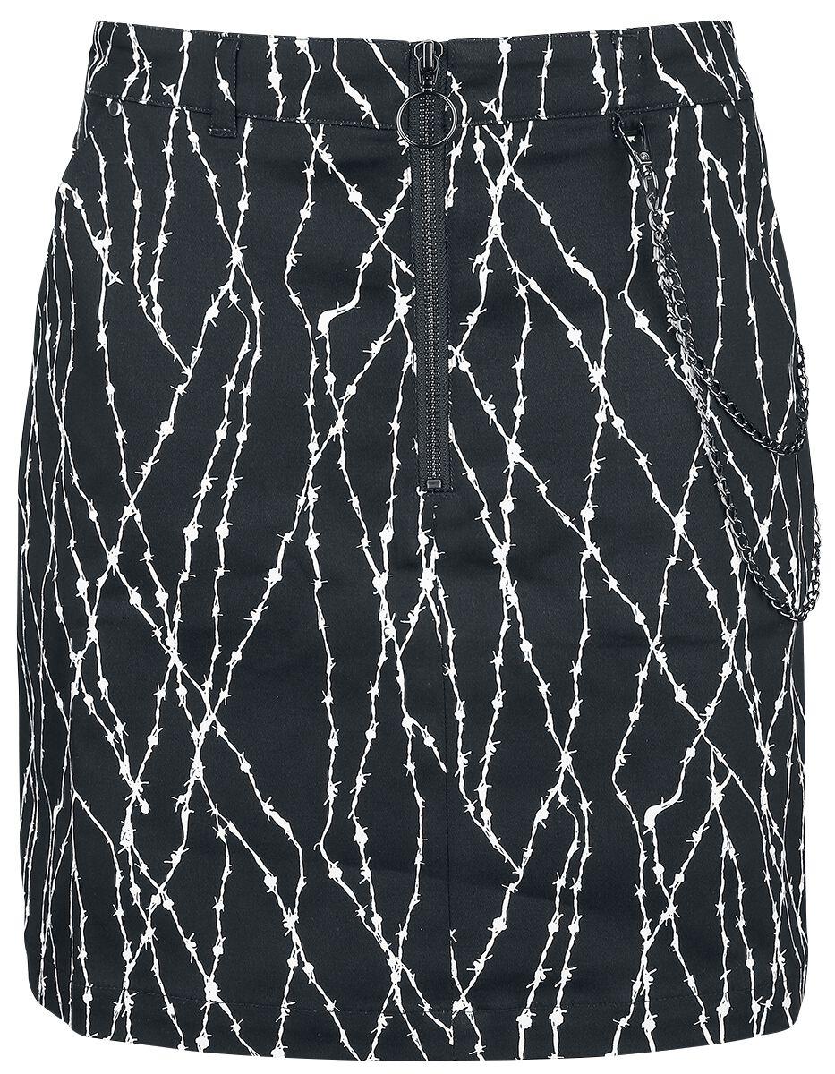 Hell Bunny - Barbed Mini Skirt - Kurzer Rock - schwarz