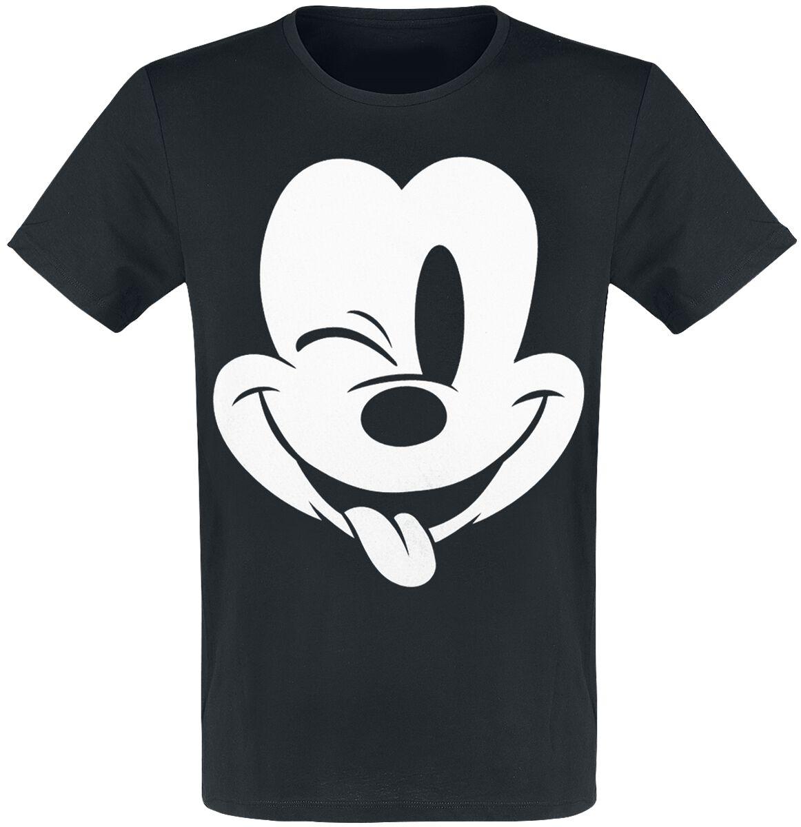 Micky Maus Wink  T-Shirt  schwarz