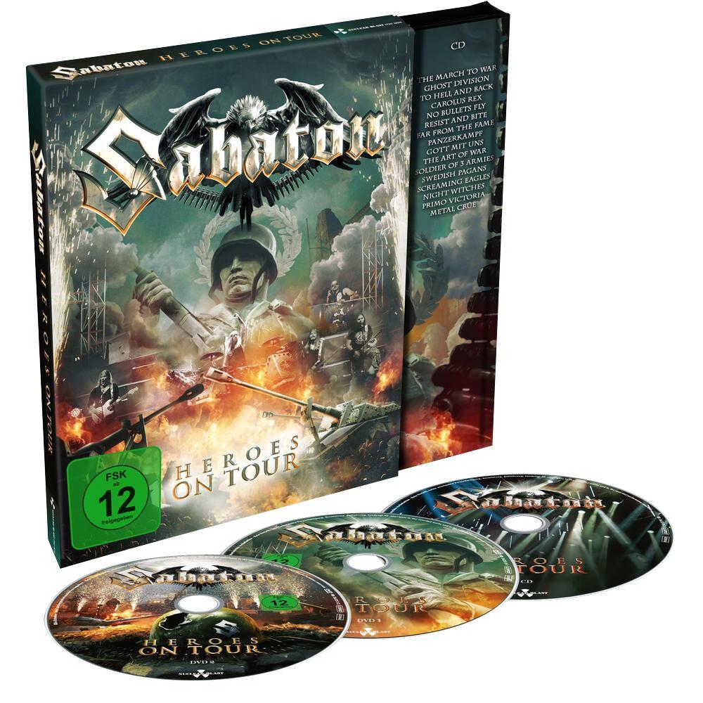Image of Sabaton Heroes on tour 2-DVD & CD Standard